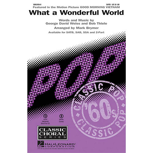 Hal Leonard What a Wonderful World SATB by Louis Armstrong arranged by Mark Brymer-thumbnail