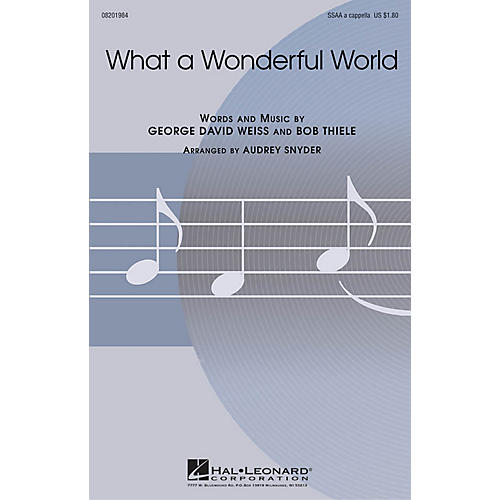 Hal Leonard What a Wonderful World SSAA A Cappella arranged by Audrey Snyder-thumbnail