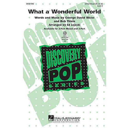 Hal Leonard What a Wonderful World VoiceTrax CD Arranged by Ed Lojeski-thumbnail