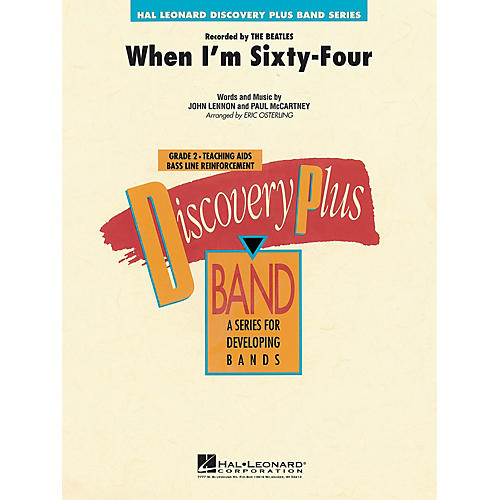 Hal Leonard When I'm Sixty-four - Discovery Plus Concert Band Series Level 2 arranged by Eric Osterling-thumbnail