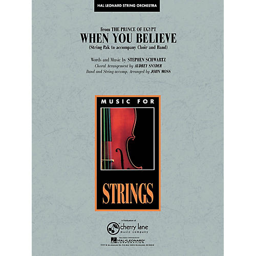 Cherry Lane When You Believe (from The Prince of Egypt) Pop Specials for Strings Series Arranged by John Moss-thumbnail