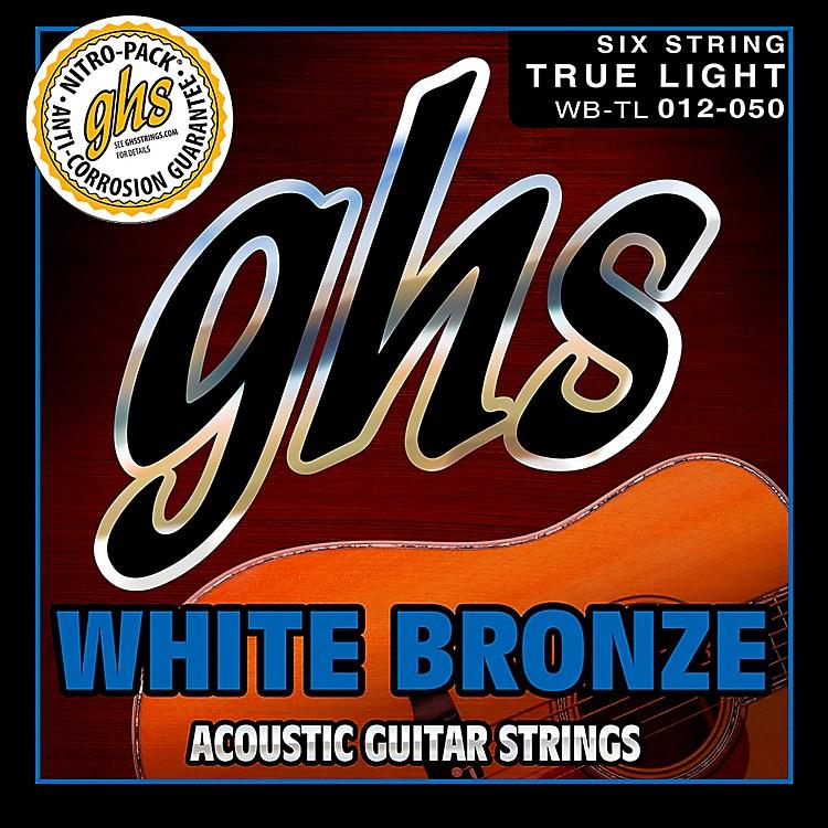 GHSWhite Bronze True Light Acoustic-Electric Guitar Strings