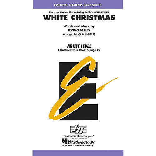 Hal Leonard White Christmas Concert Band Level 1 Arranged by John Higgins-thumbnail