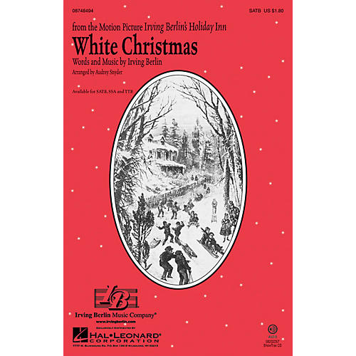 Hal Leonard White Christmas SATB arranged by Audrey Snyder