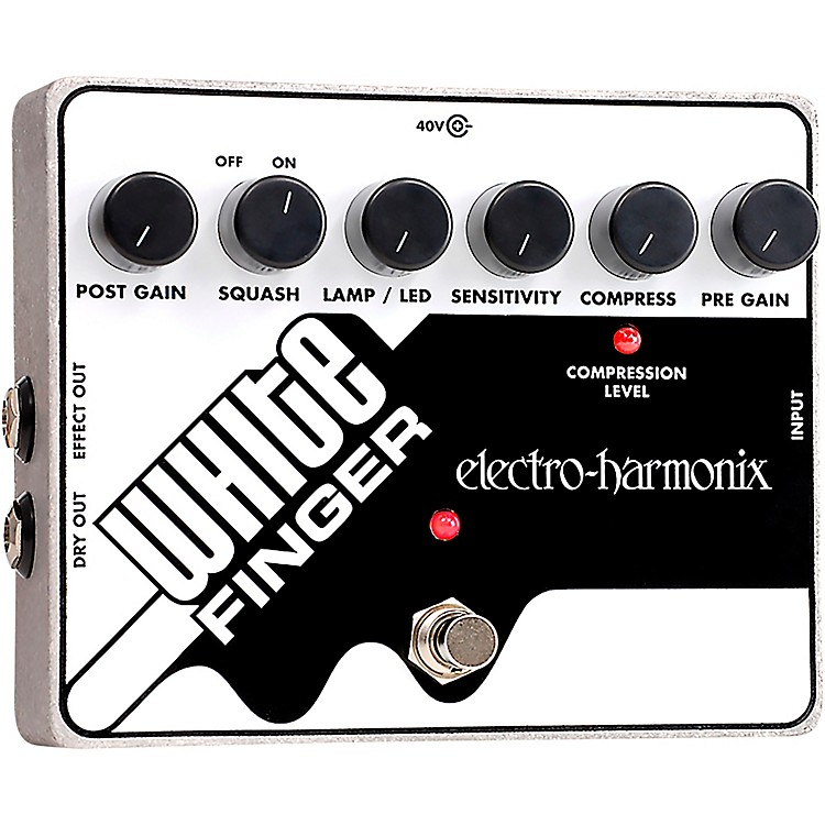 Electro-Harmonix White Finger XO Compressor Guitar Effects Pedal