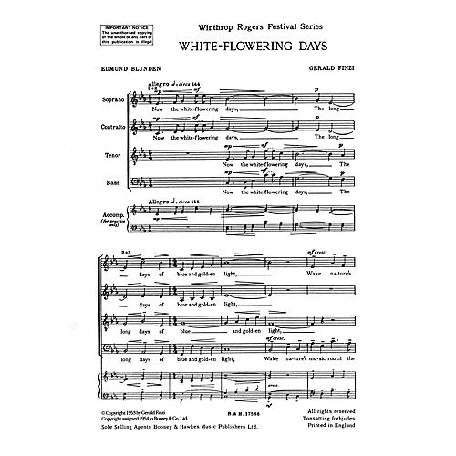Boosey and Hawkes White-Flowering Days SATB a cappella composed by Gerald Finzi