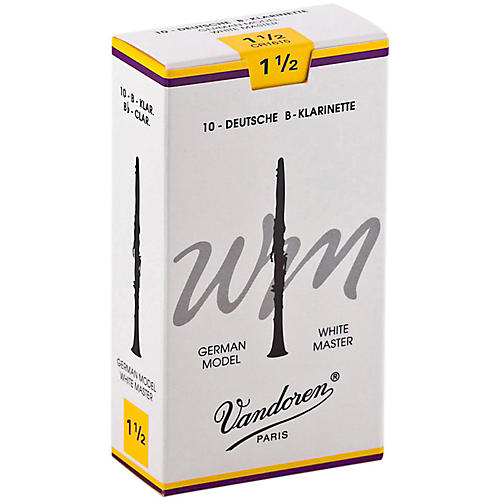 Vandoren White Master Bb Clarinet Reeds Strength 1.5, Box of 10