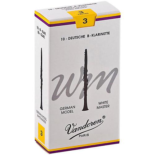 Vandoren White Master Bb Clarinet Reeds Strength 3, Box of 10