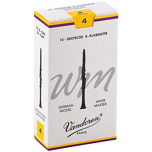 Vandoren White Master Bb Clarinet Reeds Strength 4, Box of 10