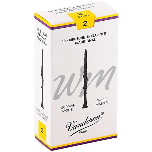 Vandoren White Master Traditional Bb Clarinet Reeds Box of 10, Strength 2