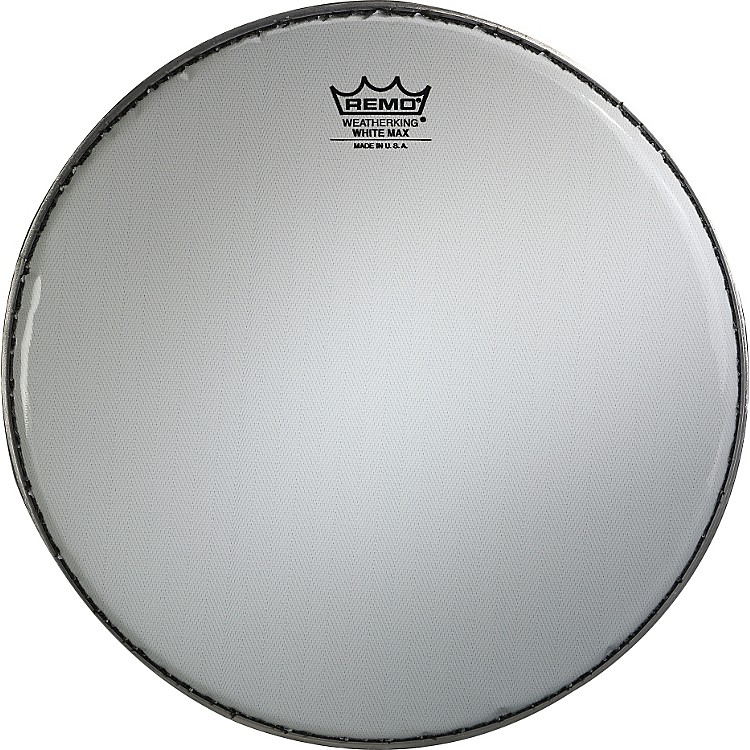 Remo White Max Crimped Smooth White Marching Snare Drum Head  14 Inches