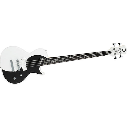 Luna Guitars White Neo Bass-thumbnail