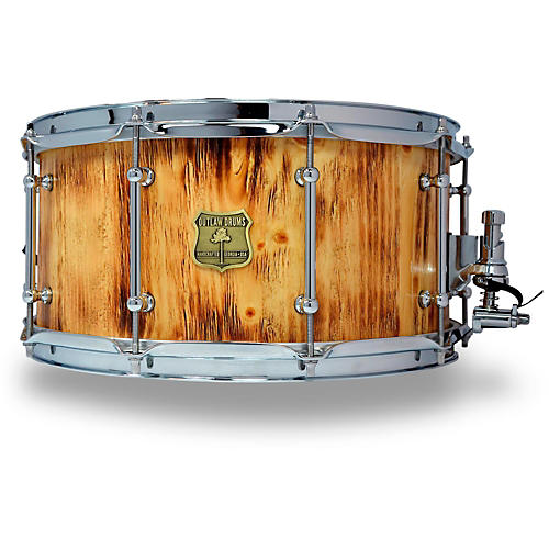 OUTLAW DRUMS White Pine Stave Snare Drum with Chrome Hardware 14 x 7 in. Forest Fire-thumbnail