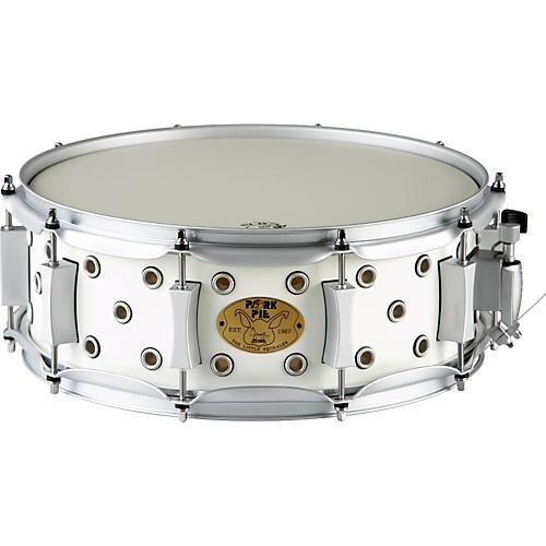 Pork Pie White Satin Little Squealer Snare Drum 14 x 5 in.
