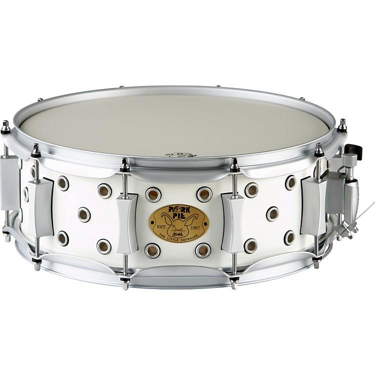 Pork PieWhite Satin Little Squealer Snare Drum5x14