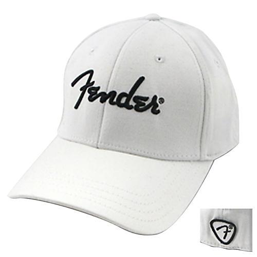 Fender White Script Logo Stretch Cap White S/M
