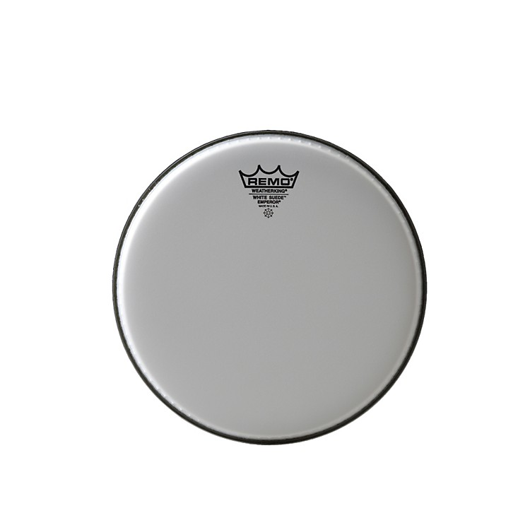 Remo White Suede Emperor Batter Drumhead 10 Inch