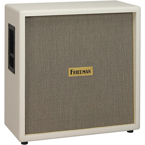 Friedman White Tolex Vintage 4x12 Guitar Speaker Cab White Tolex-thumbnail