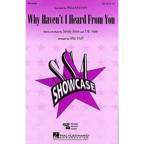 Hal Leonard Why Haven't I Heard from You SSA by Reba McEntire arranged by Mac Huff-thumbnail
