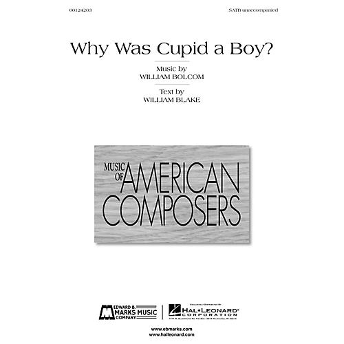 Edward B. Marks Music Company Why Was Cupid a Boy? SATB a cappella Composed by William Bolcom-thumbnail