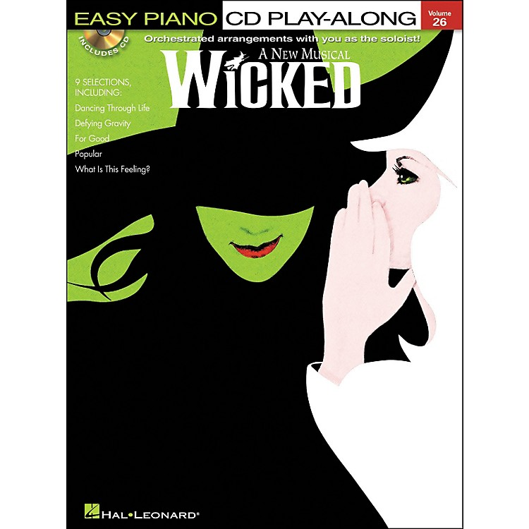 Hal Leonard Wicked - Easy Piano CD Play-Along Volume 26 Book/CD Package
