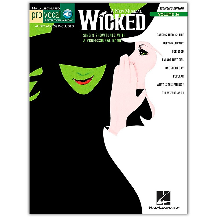 Hal Leonard Wicked - Pro Vocal Songbook & CD for Female Singers Volume 36