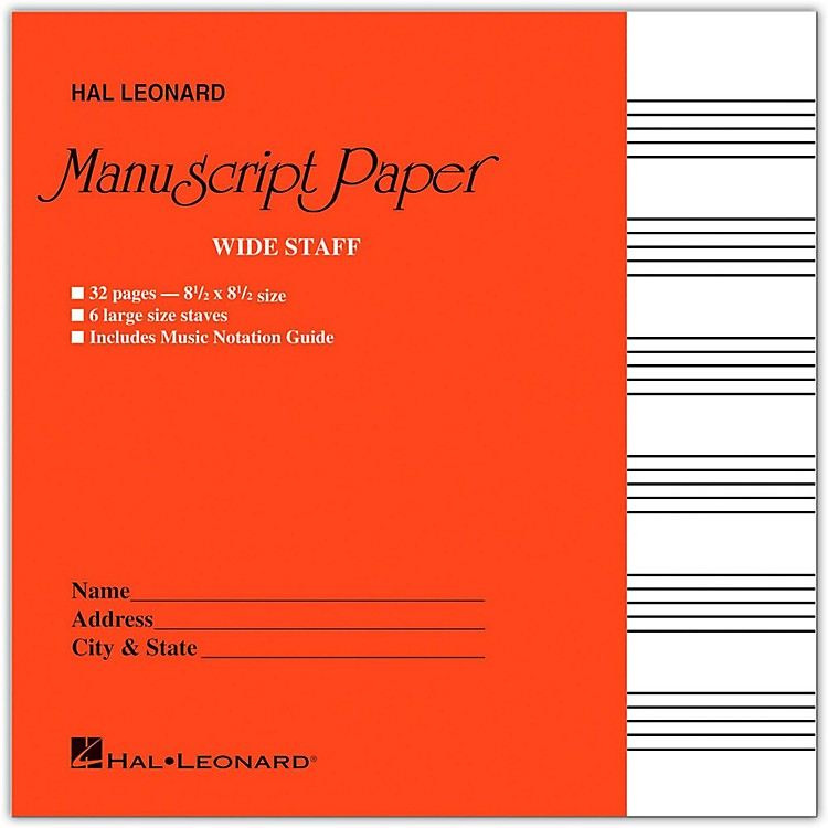 Hal Leonard Wide Staff Manuscript Paper (Red Cover)