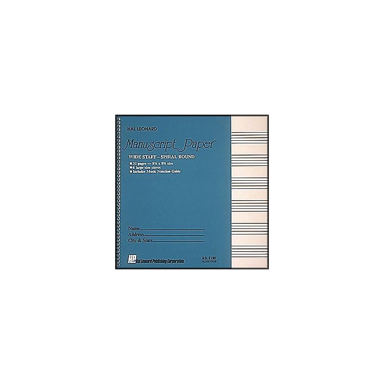 Hal LeonardWide Staff Spiral Bound Manuscript Paper