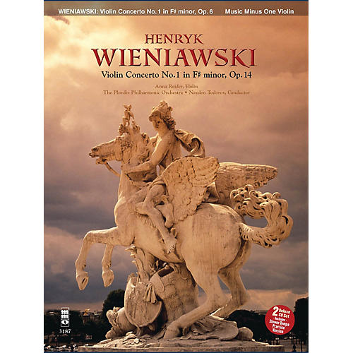 Music Minus One Wieniawski - Concerto No. 1 in F-sharp Minor, Op. 14 (2-CD Set) Music Minus One Series Softcover with CD-thumbnail