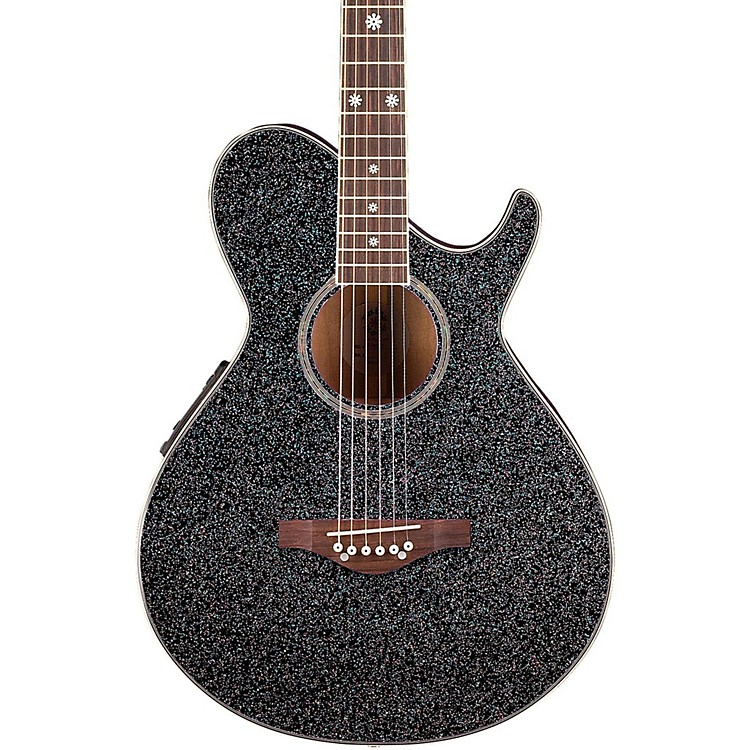 Daisy Rock Wildwood Artist Acoustic-Electric Guitar Rainbow Sparkle