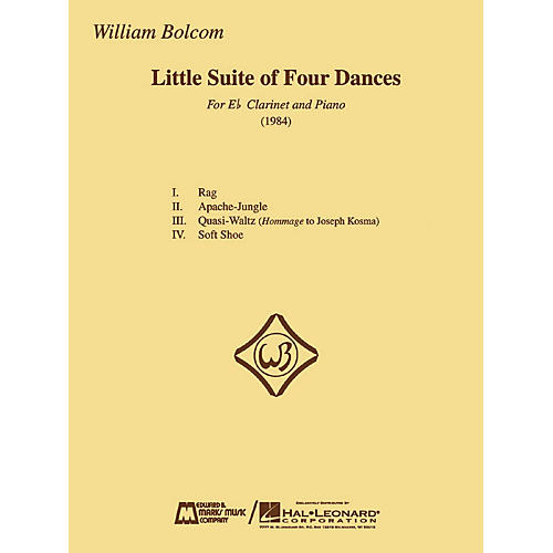 Edward B. Marks Music Company William Bolcom - Little Suite of Four Dances E.B. Marks Series Composed by William Bolcom-thumbnail