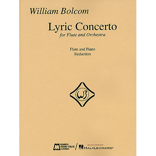 Edward B. Marks Music Company William Bolcom - Lyric Concerto for Flute and Orchestra (Piano Reduction) Woodwind Solo Series-thumbnail