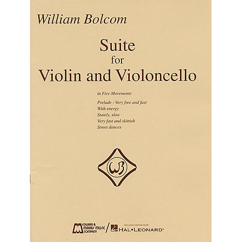 Edward B. Marks Music Company William Bolcom - Suite for Violin and Violincello E.B. Marks Series Composed by William Bolcom-thumbnail