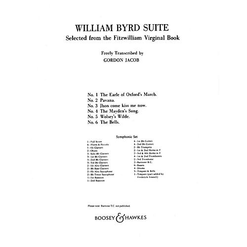 Boosey and Hawkes William Byrd Suite (Selected from the Fitzwilliam Virginal Book) Concert Band Composed by Gordon Jacob-thumbnail