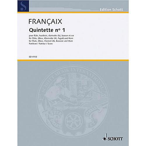 Schott Wind Quintet (Study Score) Schott Series Composed by Jean Françaix-thumbnail