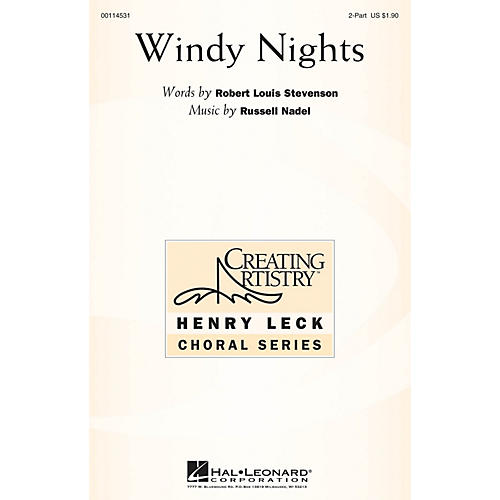 Hal Leonard Windy Nights 2PT TREBLE composed by Russell Nadel-thumbnail