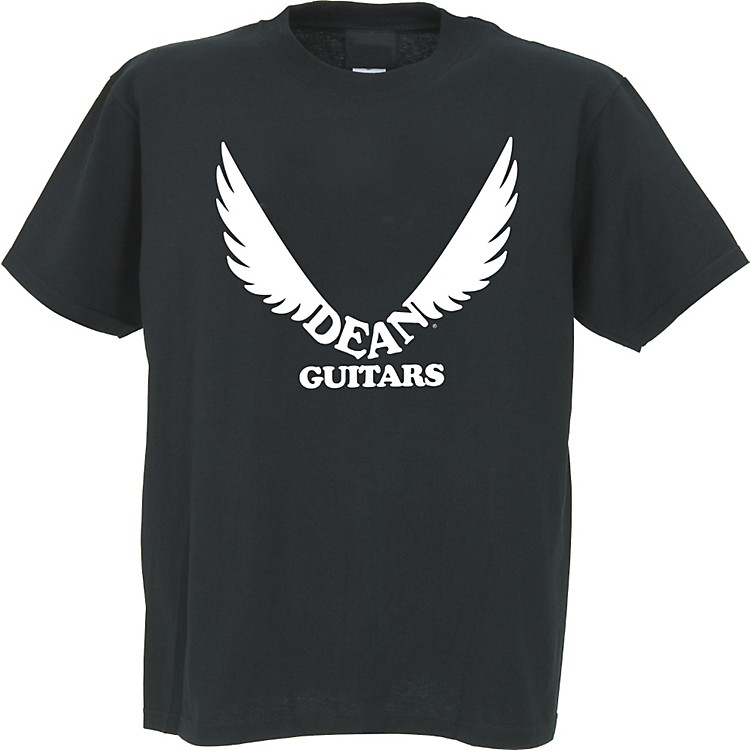 Dean Wings Logo Custom T-Shirt Black Medium