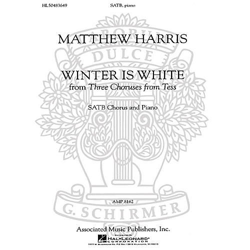 Associated Winter Is White (SSATBB and Piano (w/Tenor Solo)) SSATBB composed by Matthew Harris