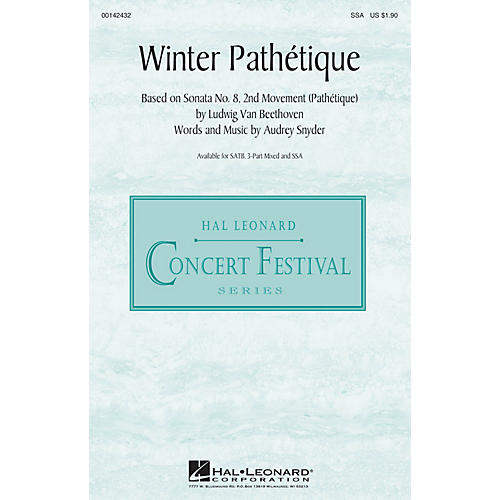 Hal Leonard Winter Pathétique SSA composed by Audrey Snyder-thumbnail
