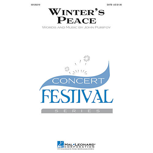 Hal Leonard Winter's Peace SATB composed by John Purifoy-thumbnail