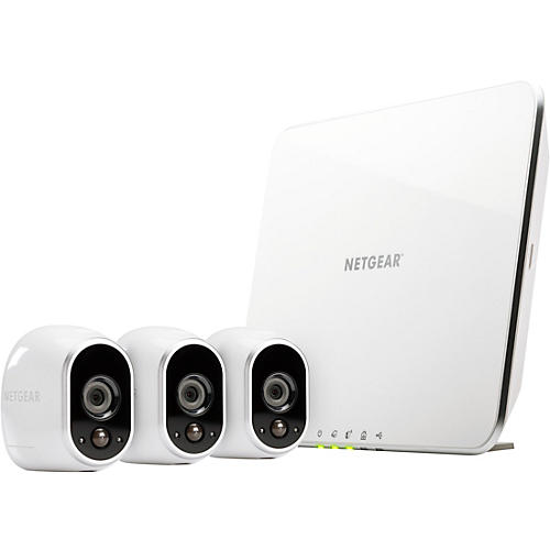 Arlo Wire-Free Smart Security System with 3 Arlo Cameras (VMS3330)