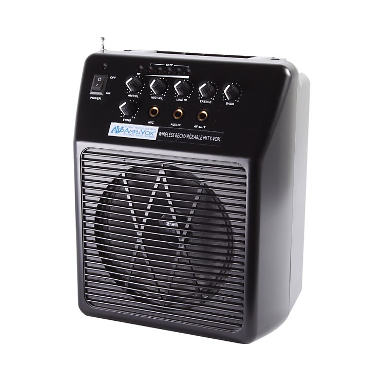 AmplivoxWireless Rechargeable Mity-Vox PA SystemBlack
