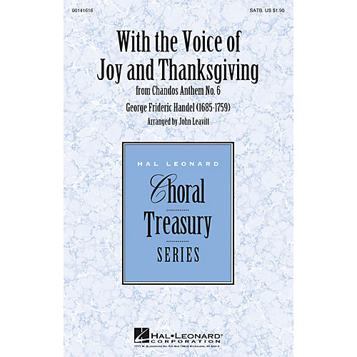 Hal Leonard With the Voice of Joy and Thanksgiving (from Chandos Anthem No. 6) SATB arranged by John Leavitt-thumbnail