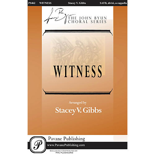 Pavane Witness SATB DV A Cappella arranged by Stacey Gibbs-thumbnail