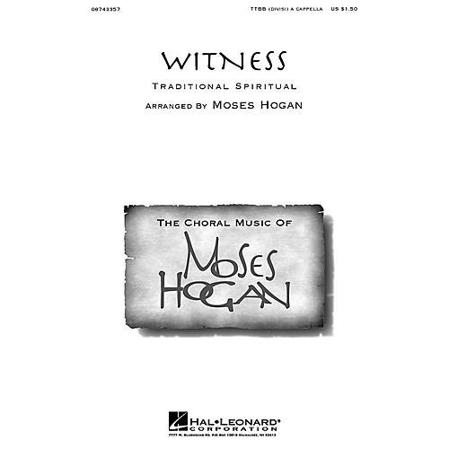 Hal Leonard Witness TTBB Div A Cappella arranged by Moses Hogan-thumbnail