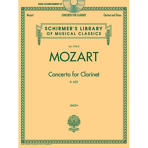 G. Schirmer Wolfgang Amadeus Mozart - Concerto for Clarinet, K. 622 Woodwind Series BK/CD-thumbnail