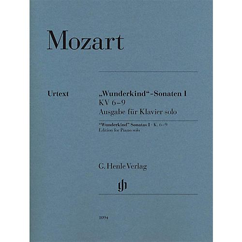 G. Henle Verlag Wolfgang Amadeus Mozart - Wunderkind Sonatas, Volume 1, K. 6-9 Henle Music Softcover Edited by Seiffert-thumbnail