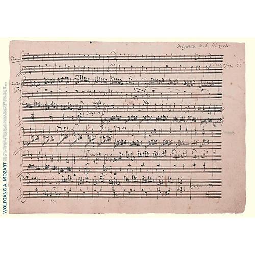 Axe Heaven Wolfgang Amadeus Mozart Music Manuscript Poster - 12 Variations for Keyboard-thumbnail