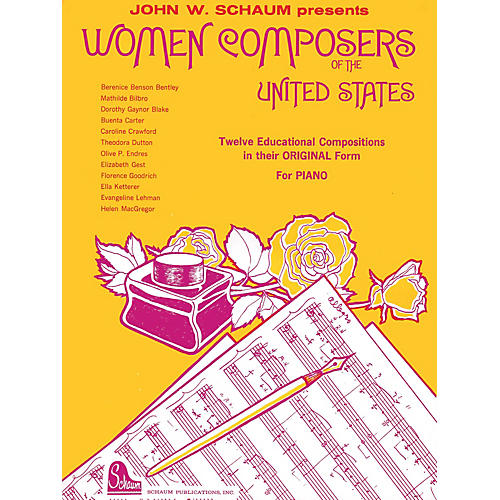 SCHAUM Women Composers Of The U.s. Educational Piano Series Softcover-thumbnail