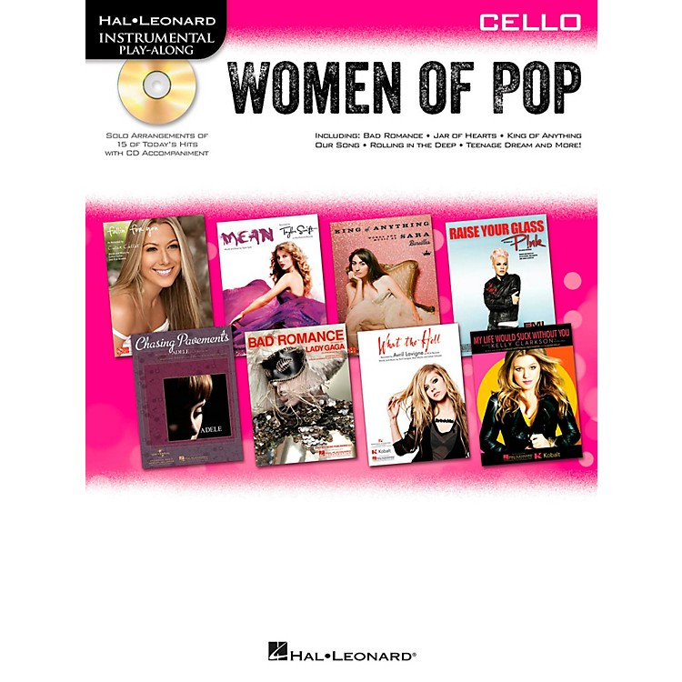 Hal Leonard Women Of Pop For Cello - Instrumental Play-Along Book/CD